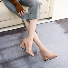 Load image into Gallery viewer, Women's Chunkey Heel Pumps High Heeled Square Head Shoes