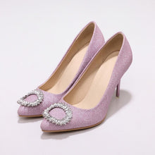 Load image into Gallery viewer, Women's Rhinestone Wedding Shoes High Heel Pumps