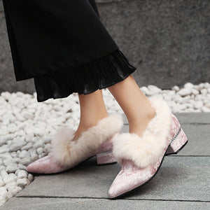 LadyLeisure Thick-heeled Woman Loafers Shoes