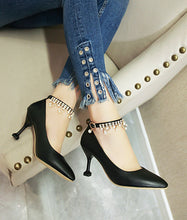 Load image into Gallery viewer, Women's Pointed Rhinestone Shallow Mouth High Heeled Stiletto Pumps