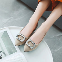 Load image into Gallery viewer, Woman's Shallow Mouth Low Heeled Chunky Pumps Shoes