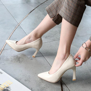 Bride Shoes High Heeled Shallow Mouth Women Pumps