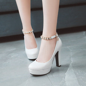 Strappy Super High-heeled Platform Pumps