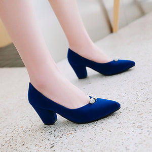 Pointed Toe High Heeled Bridal Shoes