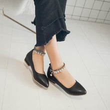 Load image into Gallery viewer, Girls Buckle Trend Flat Shoes