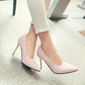 Bride's Wedding Shoes Super High Heel Pumps
