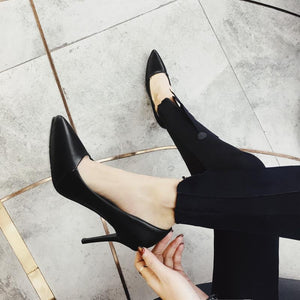 Sexy Super Stiletto Heel  Pointed Shallow Mouth Women Pumps