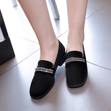 Load image into Gallery viewer, Woman Suede Shallow Mouth Low Heeled Shoes