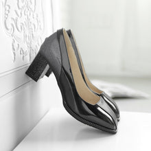 Load image into Gallery viewer, Women's Color Matching High Heeled Chunkey Pumps