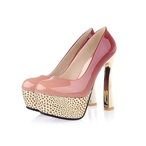 Super High Heeled Sexy Platform Pumps