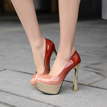 Load image into Gallery viewer, Super High Heeled Sexy Platform Pumps