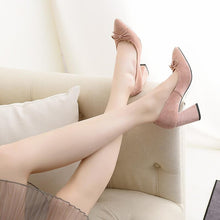 Load image into Gallery viewer, Bride Shoes High Heeled Knot Pumps