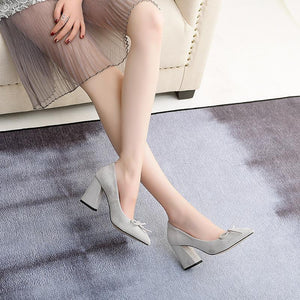 Bride Shoes High Heeled Knot Pumps