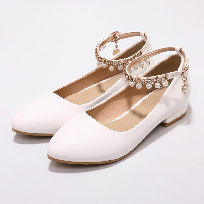 Girls Buckle Trend Flat Shoes
