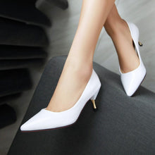 Load image into Gallery viewer, Sexy Stiletto Heel  Shallow Mouth Pointed Toe Bride Shoe
