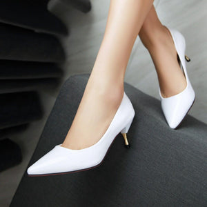 Sexy Stiletto Heel  Shallow Mouth Pointed Toe Bride Shoe