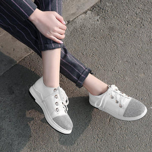 Girls Lace Up Flat Shoes