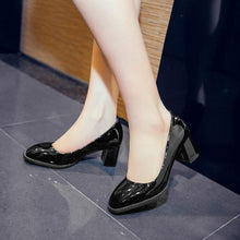 Load image into Gallery viewer, Square Toe High Heeled Women Pumps