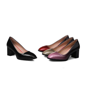 Square Toe High Heeled Women Pumps