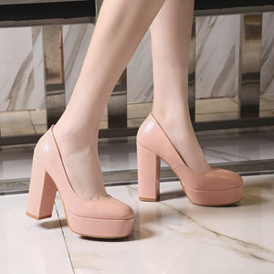 Ultra-High Heeled Platform Pumps