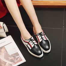 Load image into Gallery viewer, Woman's Leisure Lace Up Platform Wedges Shoes