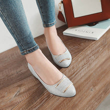 Load image into Gallery viewer, Lady  Spring Autumn Square Heel Sequins Shallow Mouth Wedding Shoes Mid Heels Women Pumps