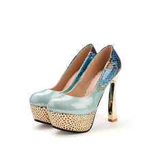 Load image into Gallery viewer, Super High Heeled Platform Pumps Club Shoes