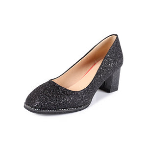 Women's Sequins Shallow Toe High Heeled s Bride Shoes