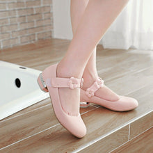 Load image into Gallery viewer, Woman Sweet Flower Low Heeled Princess Shoes