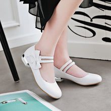 Load image into Gallery viewer, Woman Sweet Bow Low Heeled Princess Shoes