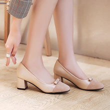 Load image into Gallery viewer, LadySquare Medium Heel Shallow Mouth Wedding Shoes Woman  Pumps