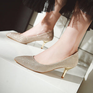 Wedding Shoes Stiletto Heel  Shallow Mouth Women Pumps