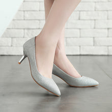 Load image into Gallery viewer, Wedding Shoes Stiletto Heel  Shallow Mouth Women Pumps