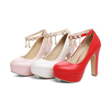 Load image into Gallery viewer, Rhinestone High Heels Platform Pumps Wedding Shoes