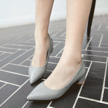 Load image into Gallery viewer, Lady Pointed Toe Shallow Mouth Size 32-43 Women's Pumps Mid Heels Shoes