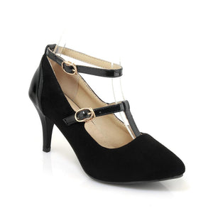Sexy Stiletto Heel  Shallow Buckle with Pointed Toe Stiletto Heel