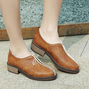 Woman Suede Low Heeled Shoes