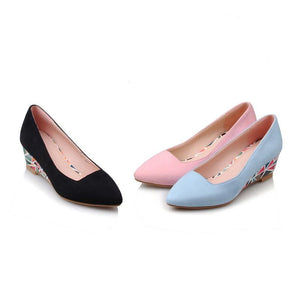 Woman Shallow-mouthed Wedges Low Heeled Shoes