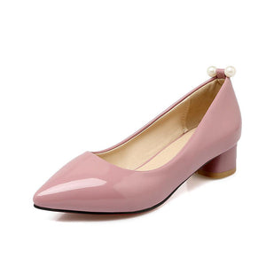 Lady Pointed Toe Shallow Mouth Size 32-43 Women's Pumps Mid Heels Shoes