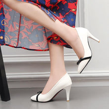 Load image into Gallery viewer, Pointed Toe Shallow Stiletto Heel  Elegant Bow Wedding Shoes