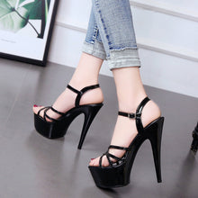Load image into Gallery viewer, Nightclub Super High Heel Platform Sandals