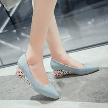 Load image into Gallery viewer, Woman Shallow-mouthed Wedges Low Heeled Shoes