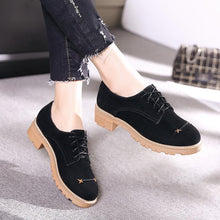 Load image into Gallery viewer, Woman's Lace Up Size 33-43 Low Heeled Chunky Pumps Shoes