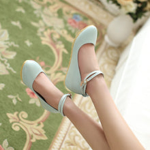 Load image into Gallery viewer, Girls Cute Ankle Strap Wedge Shoes Academic Style Fresh Woman's Shoes