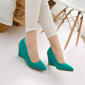 Casual Women's Shallow Toe Platform Wedges Shoes