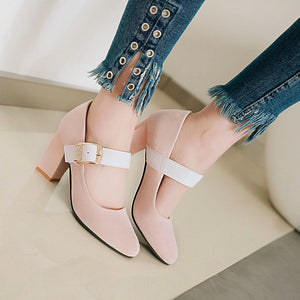 Buckle High Heeled Women Pumps