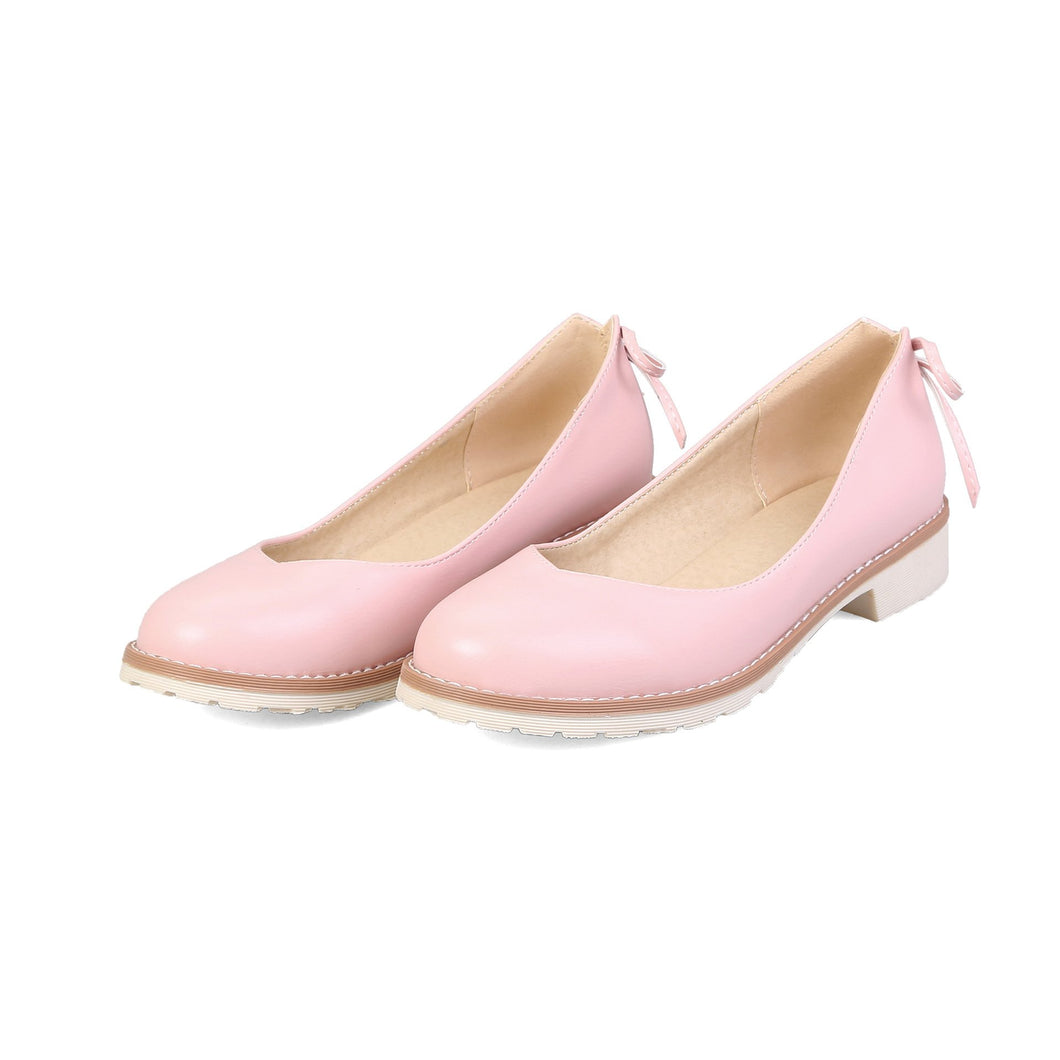 Girls Shallow Round Head Flat Shoes