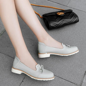 Women's Round Head Low Heeled Shoes