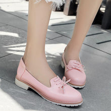 Load image into Gallery viewer, Women's Round Head Low Heeled Shoes