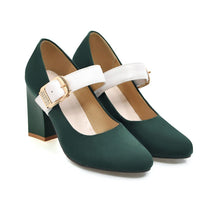 Load image into Gallery viewer, Coarse Heel High Heeled Buckle Mary Janes